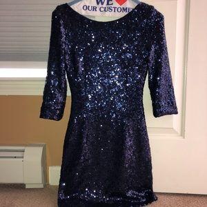 Body Con Sequenced Mini Dress